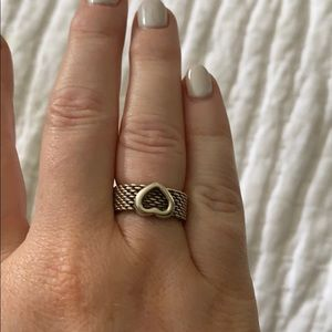 Tiffany & Co. Jewelry - Tiffany & Co sterling silver mesh heart ring